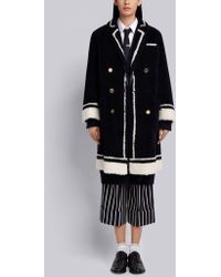 Thom Browne - Dyed Shearling Sack Overcoat - Lyst