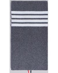 Thom Browne - 4-bar Stripe Cashmere Rib Scarf - Lyst