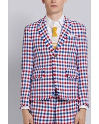 Thom Browne - Frayed Gingham High-armhole Sport Coat - Lyst