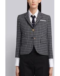 Thom Browne - Classic Single Breasted Sport Coat In Windowpane Tartan School Uniform - Lyst