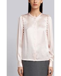 Thom Browne - Bridal Button Silk Blouse - Lyst