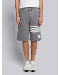 Thom Browne - Engineered 4-bar Stripe Cashmere Shell Sweat Shorts - Lyst