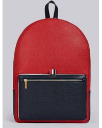 Thom Browne - Color-blocked Unstructured Leather Backpack - Lyst