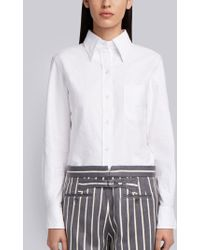 Thom Browne - Flower Embroidery Button Down Shirt - Lyst