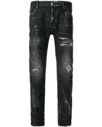 DSquared² - Tidy Biker Jeans Dark Grey - Lyst