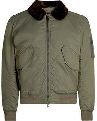 Belstaff - Sudeley Shearling Jacket Green - Lyst