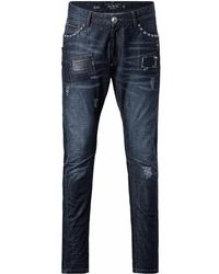 "Philipp Plein - ""love Jeans"" Biker Jeans - Lyst"