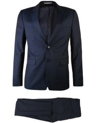 KENZO - Stretch Wool Blend Suit Blue - Lyst