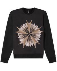 Neil Barrett - Military Star Print Sweatshirt Black - Lyst
