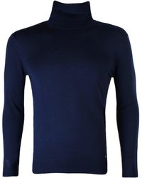 DSquared² - Roll Neck Knit Navy Blue - Lyst