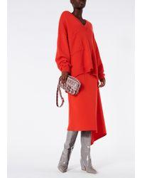Tibi - Cashmere V-neck Patch Pocket Oversized Pullover - Lyst