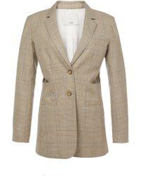 Tibi - Cooper Silk Wool Cut Out Blazer - Lyst