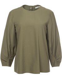Tibi - Shirred Sleeve Top - Lyst