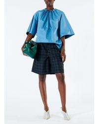 Tibi - Marvel Plaid Pleated Shorts - Lyst