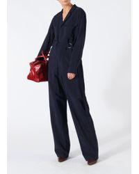 Tibi - Viscose Plainweave Workwear Jumpsuit - Lyst
