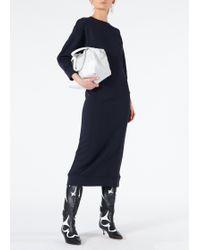 Tibi - Open Back Sweatshirt Midi Dress - Lyst