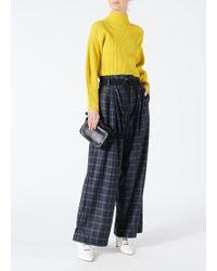 Tibi - Ghery Plaid Stella Wide-leg Paperbag Pants - Lyst