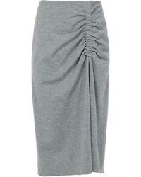 Tibi - Bond Stretch Knit Shirred Skirt - Lyst