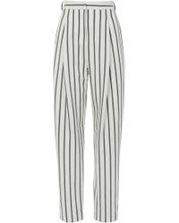 Tibi - Lucci Stripe Sculpted Pleat Pants - Lyst
