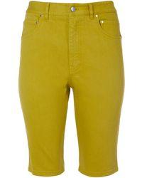 Tibi - Garment Dyed Twill Trish Shorts - Lyst