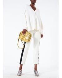 Tibi - Luxe Merino Wool Silk Back Cardigan - Lyst