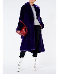 Tibi - Luxe Faux Fur Oversized Coat - Lyst