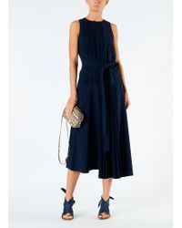 Tibi - Edith Pleating Sleeveless Dress - Lyst