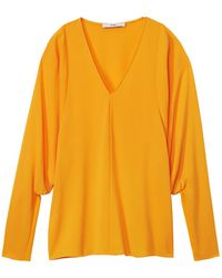 Tibi - Savanna Crepe V-neck Dolman Sleeve Top - Lyst
