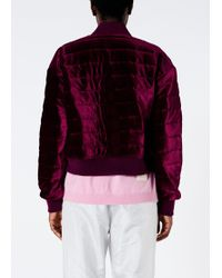 15c644411 Quilted Velvet Cropped Jacket