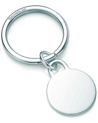 Tiffany & Co | Round Tag Key Ring In Sterling Silver | Lyst