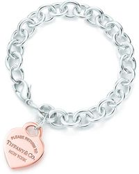 Tiffany Co Heart Tag Bracelet Lyst