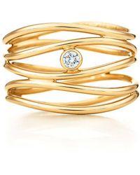 Tiffany & Co. - Wave Five-row Diamond Ring - Lyst