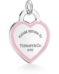 d8ef37ca79f0 Tiffany   Co. - Return To Tiffanytm Heart Tag Charm In Sterling Silver With  Pink