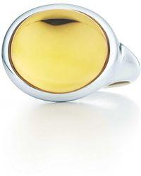 Elsa Peretti Cabochon ring in sterling silver with a citrine - Size 6 Tiffany & Co. 0GtFcsib