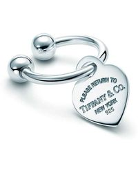 Tiffany & Co | Heart Tag Key Ring | Lyst