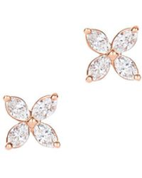 Tiffany & Co. - Tiffany Victoria. Earrings In 18k Rose Gold With Diamonds, Mini - Lyst