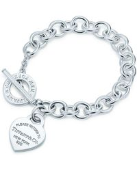 Tiffany & Co | Heart Tag Toggle Sterling Silver Small Bracelet | Lyst