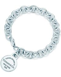 Tiffany & Co. - Round Tag Bracelet - Lyst