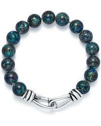 Tiffany & Co. - Paloma Picasso. Knot Bead Bracelet Of Chrysocolla And Silver, Extra Large - Lyst