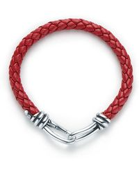 Tiffany & Co. - Paloma Picasso. Knot Single Braid Bracelet Of Leather And Silver, Extra Large - Lyst