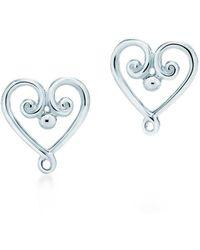 Tiffany & Co. - Goldoni Heart Earrings - Lyst