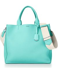 Tiffany & Co. - Women's Tote In Grey Grain Calfskin Leather - Lyst