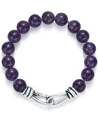 Tiffany & Co. - Paloma Picasso. Knot Bead Bracelet Of Amethyst And Sterling Silver, Extra Large - Lyst