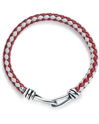 Tiffany & Co. - Paloma Picasso. Knot Single Braid Bracelet Of Leather And Silver, Medium - Lyst