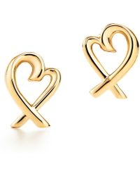 Tiffany & Co. - Loving Heart Earrings - Lyst