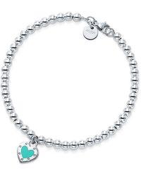 Tiffany & Co. - Return To Tiffanytm Love Heart Bead Bracelet In Silver With Enamel Finish - Size Medium - Lyst
