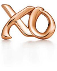 Tiffany & Co. - Love & Kisses Single Earring In 18k Rose Gold - Lyst