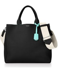Tiffany & Co. - Women's Tote In Black Grain Calfskin Leather - Lyst