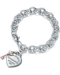 Tiffany & Co. - Heart Tag Key Bracelet - Lyst