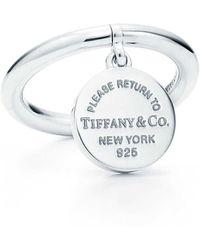 Tiffany & Co. - Round Tag Ring - Lyst